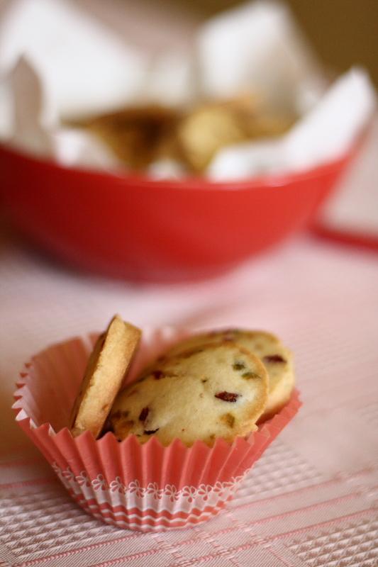 ciastka zurawina i pistacjami